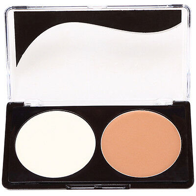 2 Color Makeup Face Powder Highlight Shadow Shading Conceler Bronzing Powder Kit
