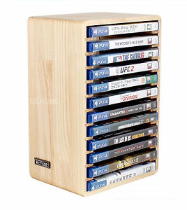 Image Is Loading Real Wood Consoles Games DVD Storage Stand Wooden
