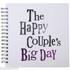 THE BRIGHT SIDE HAPPY PAREJAS BIG DAY BODA INVITADO LIBRO DE LA MEMORIA DIARIO