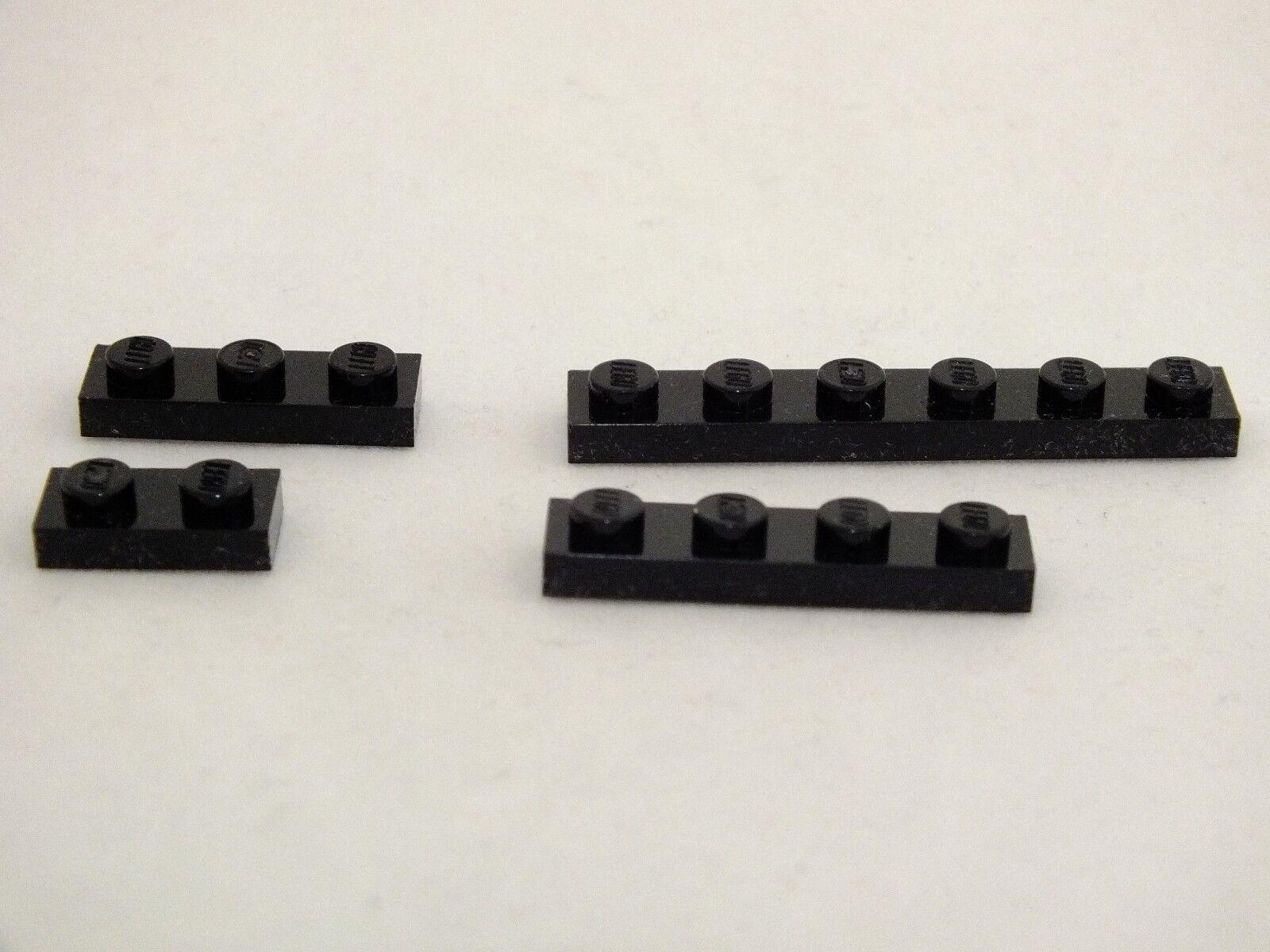 Lego  1X2, 1X3, 1X4 et 1X6 NOIR plaque brique neuf jamais utilisé 540 pieces  marque