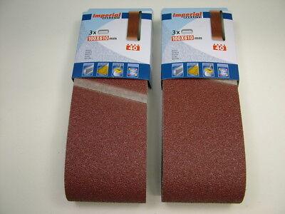 Sanding belts 75x480mm med.fine 120 grit pack 3 belts premium quality European