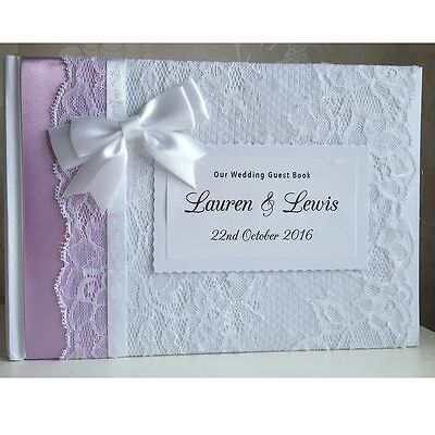 Personalised Guest Book / Photo Album with box - Wedding, Baby, Christening