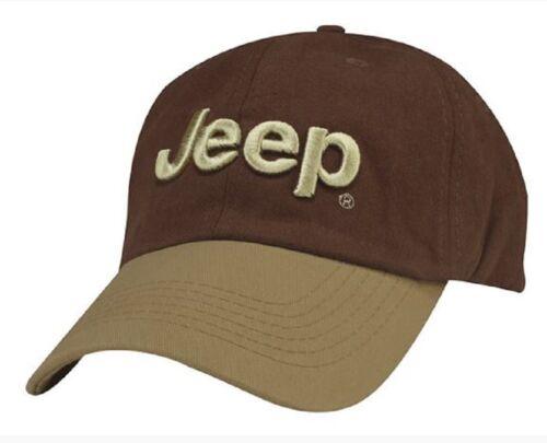 Jeep Hat Cap Brown Beige Tan Wrangler Compass Grand Cherokee Renegade