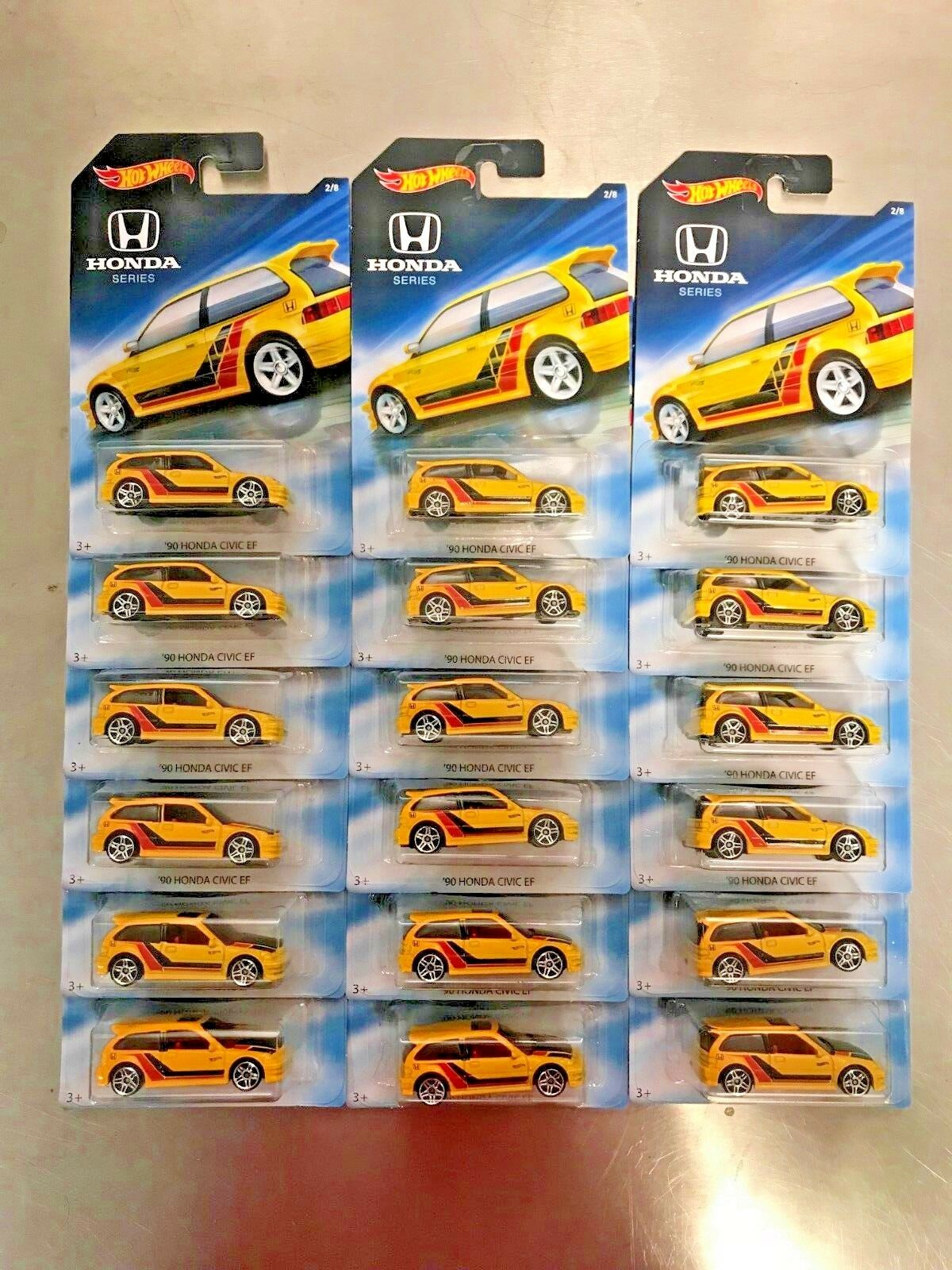 New HOT WHEELS Honda Series Set '90 Civic EF Lot of 18 Set 2018