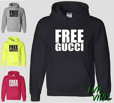 Free Gucci Mane Hoodie Shirt Rap Atlanta Guwop ATL Prison Brick Squad YMCMB NEON