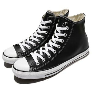 2cfb8db5063f Converse Chuck Taylor All Star Hi Black Leather Men Women Sneakers ...