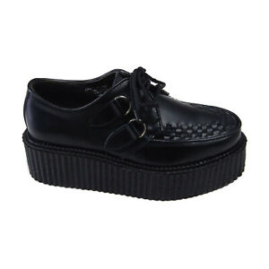 New-Pleaser-Demonia-Gothic-Punk-Black-Leather-Creepers-402-Mens-Size-5-Womens-7