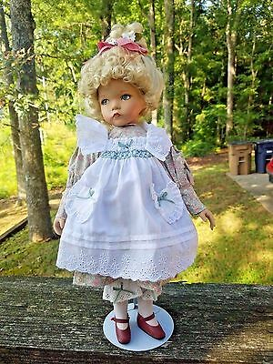 """Dianna Effner Artist Doll Mary Mary Quite Contrary w Stand 15"""" Bisque"""