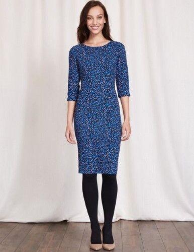 Boden Rosalind Dress Blau Größe UK 20L rrp  DH088 AA 01