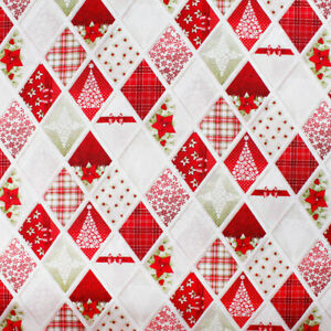 Tablecloth Table Christmas Covering Pattern Spirit Argyle Trees Red Gold
