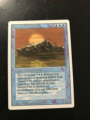 Island Fish Jasconius Revised NM Blue Rare MAGIC THE GATHERING CARD ABUGames