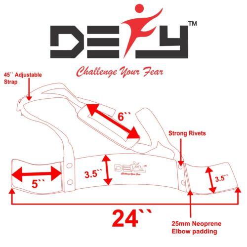 Defy Heavy Duty bras Isolateur Blaster Gym Body Building biceps curl Triceps Noir