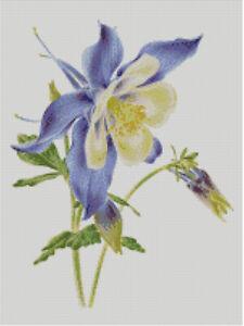 William Morris Columbine Flower Arts /& Crafts Counted Cross Stitch Chart Pattern