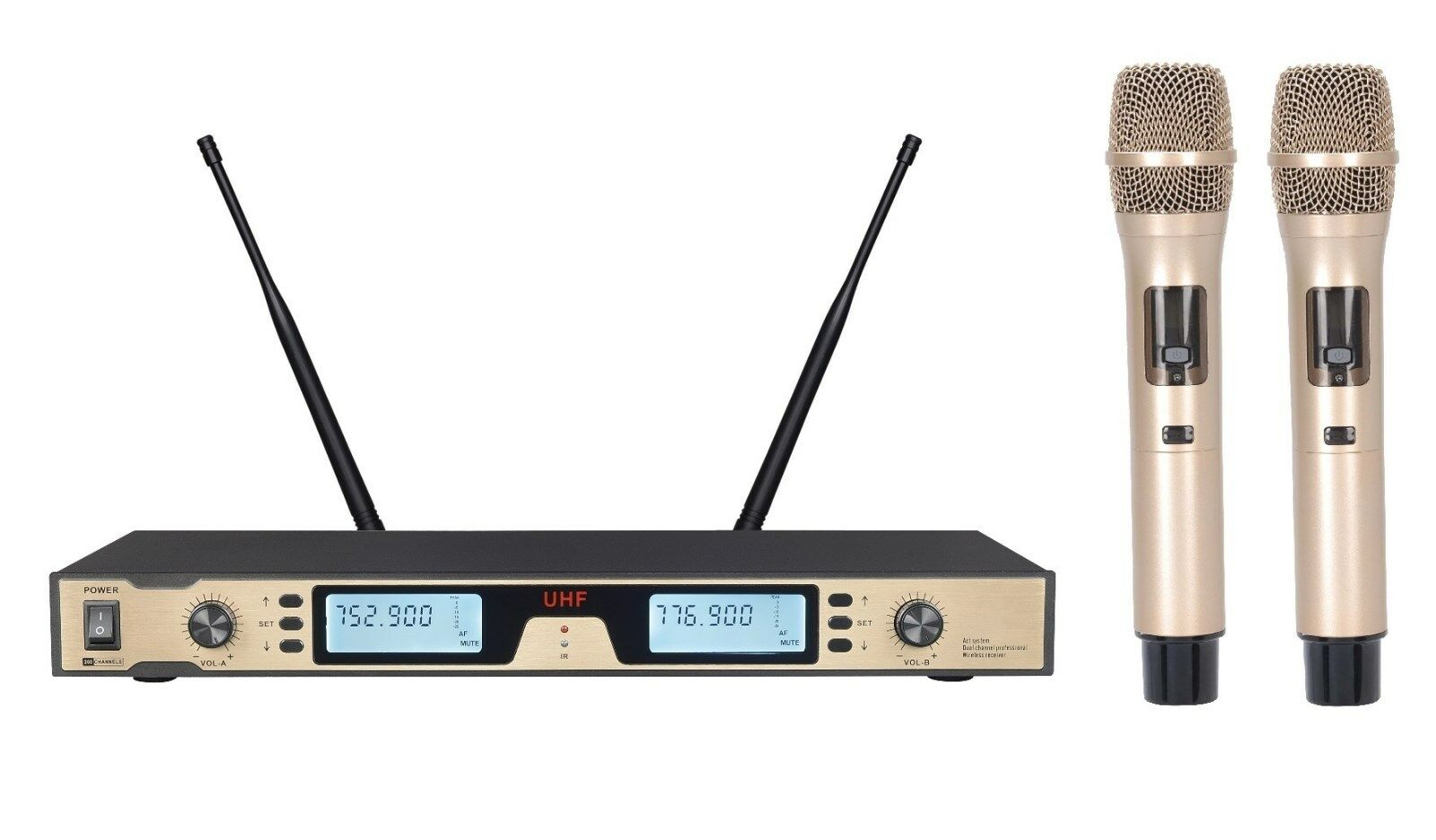 PROFESSIONAL UHF DUAL WIRELESS VOCAL MICROPHONE FOR WIRELESS