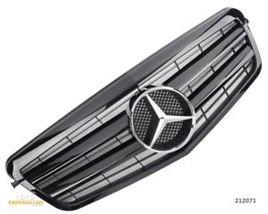 GRILL GRIGLIA ANTERIORE SPORT PER MERCEDES w212 s212 e fino a 2013 Lucentezza Nero AMG o....