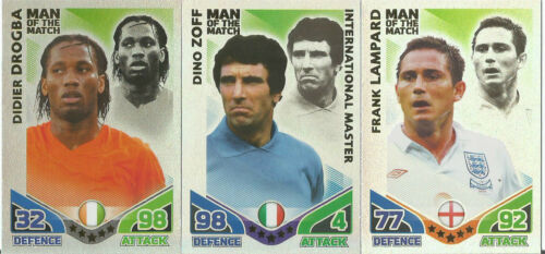 im choisir ceux dont vous avez besoin MATCH ATTAX Angleterre Coupe du Monde 2010 Man of the match