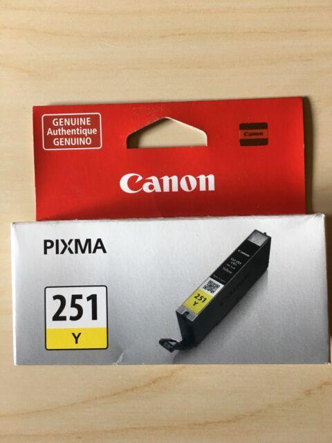 Canon CLI-251 Yellow Ink Cartridge CLI-251Y 6516B001 Genuine New Sealed Box