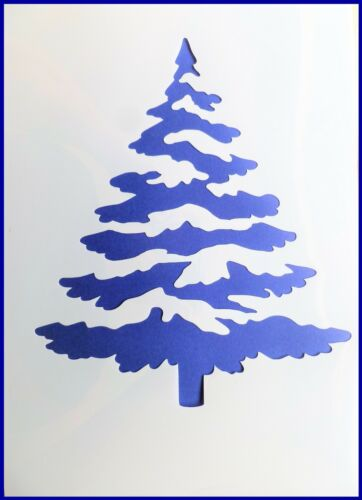 A4 Large Flexible Stencil *WINTER TREE* Snow covered Christmas Tree 21cm x 29.5