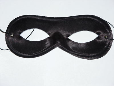 WHITE SATIN DOMINO EYE MASK MASQUERADE BALL HALLOWEEN COSTUME ACCESSORY BANDIT