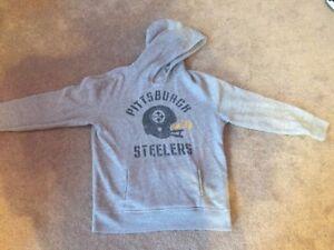 online retailer 7b787 278a9 Details about Gap Kids NFL Pittsburgh Steelers Unisex Gray Vintage Wash  Hoodie Sweatshirt 10
