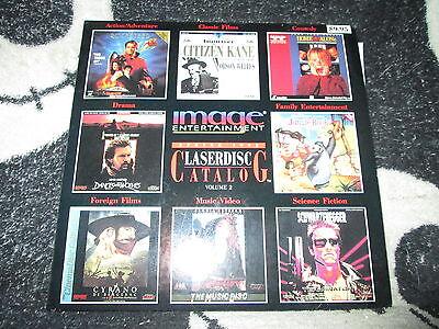 "Angemessen Bild Entertainemnt Feder 1992 Laserdisc Katalog Vol. 2 8 "" Laserdisc % Ld"