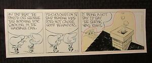 "Late 80's Early 90's THE SMITH FAMILY Original Comic Strip Art 16.5x5.5"" 10/11"