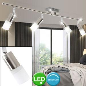 Details zu LED Deckenleuchte Wohnzimmer Deckenlampe E14 Spot-Strahler  schwenkbar 4-Flammig