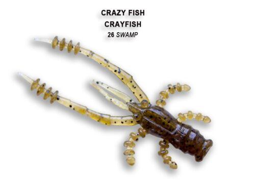"""Creaturebait 8 Stück Gummikrebs Crayfish 1.8/"""" 4,5cm von Crazy Fish Barschkö"""
