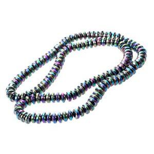 Rainbow-Roundel-Hematite-Stone-Loose-Bead-6mm-Strand-HOT-S9U3