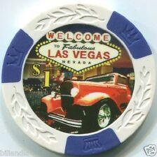 5 pc 5 colors 11.5 gram CLASSIC CAR poker chip samples set #249 - Automobile