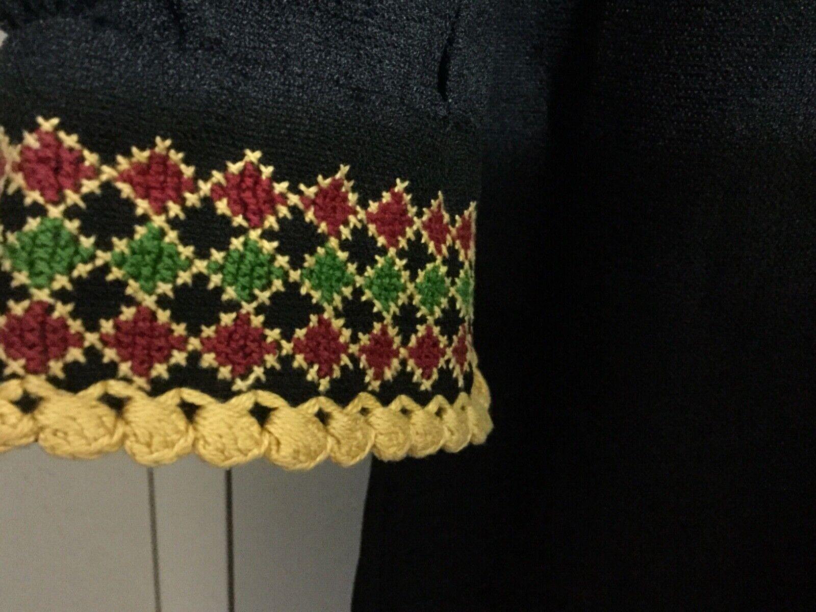 Hand made Embroiderey black Thobe  caftan dress G… - image 5