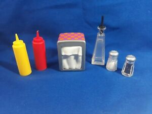 """Our generation 18/"""" doll ketchup//mustard replacement diner fit American Girl"""