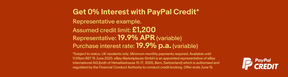 Learn more - Get 0% interest with PayPal credit