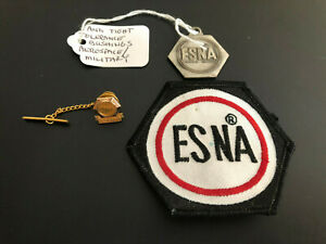 Vintage ESNA Advertising Fob Medal Pin Patch - Aerospace & Military Products