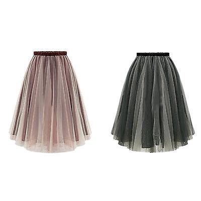 Women Tutu Vintage Rockabilly Petticoat Ballet Tulle Girl's Skirt Fancy Dress