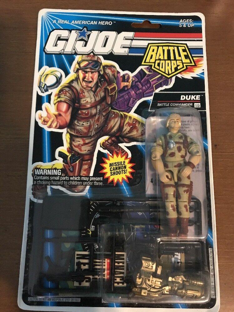 GI Joe Duke 3.75  Action Figure 1992 MOC Hasbro Cobra Battle Corps ARAH Leader