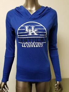 Details about New NCAA Women s UK Kentucky Wildcats long sleeve hooded t- shirt top. 8de7f282a327