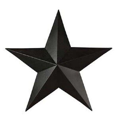 """8/"""" Black Barn Star Metal Primitive"""