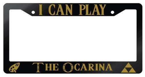 I Can Play The Ocarina Glossy Black License Plate Frame Legend Of Zelda
