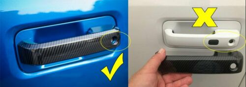 4*Black ABS Exterior Door Handle Cover Trim Protect For Ford F150 2014 2015-2018