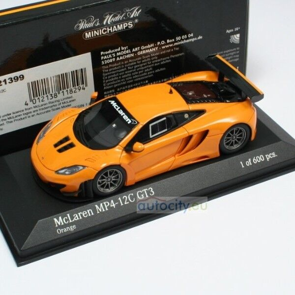 MINICHAMPS MCLAREN MP4-12C GT3 STREET Orange 437121399