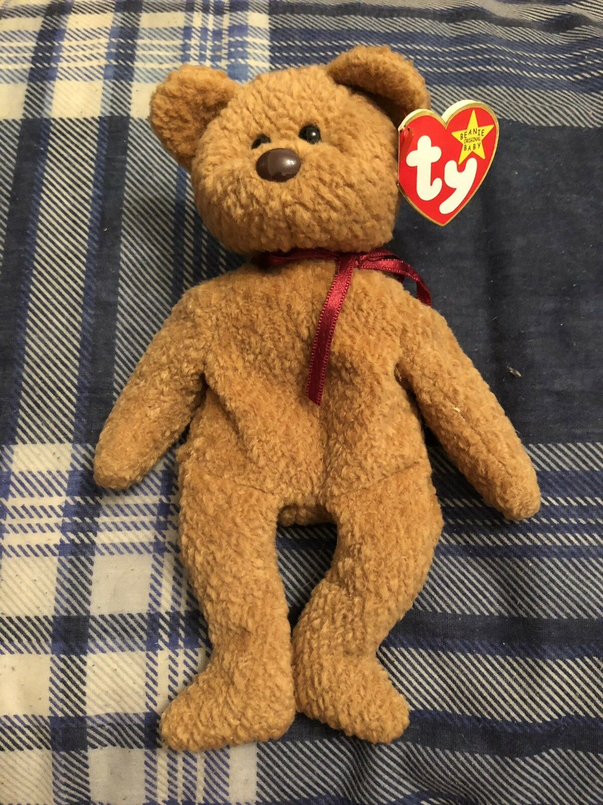 Curly TY Beanie baby With Errors
