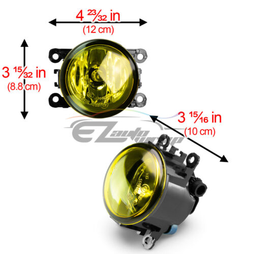 2x Fog Light Yellow OEM Quality Replacement For 2007-19 Mitsubishi Outlander F4