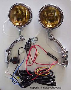 ct70 12 volt wire harness kit amber 5 inch fog lights w chrome brackets & wiring ... 12 volt wire relay schematic #12