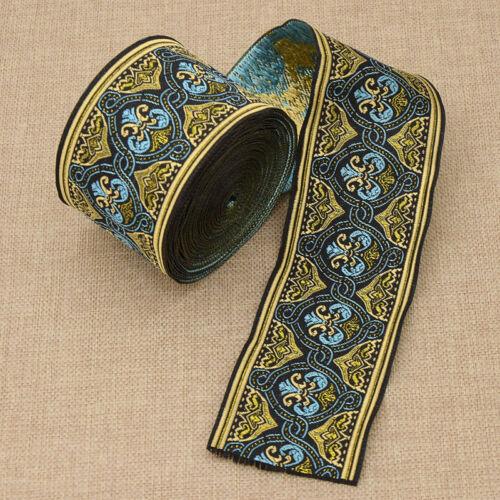 environ 8.23 m 9 Yd Woven Jacquard Ribbon Trim Sangle Sewing Craft À faire soi-même Vêtements Décoration