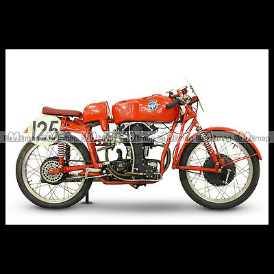 #phm.00566 Photo Mv Agusta 1954 125 Bialbero 1 Moto Motorcycle 2019 Official