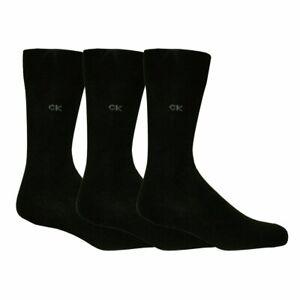Calvin-Klein-3-Pack-Premium-Gekaemmte-Baumwolle-Herren-Socken-schwarz
