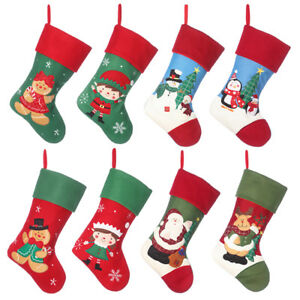Christmas STOCKINGS Personalised Embroidered Xmas Sacks ADD YOUR NAME Santa