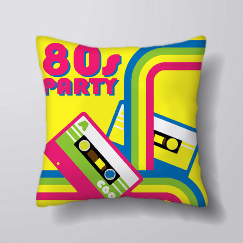 80/'s party cassette  Printed Cushion Covers Pillow Cases Home Decor or Inner