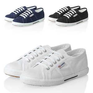 Superga-Sneaker-Donna-low-top-canvas-scarpe-sportive-lacci-color-NUOVO-SALE